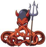 Octopus de Duivel Royalty-vrije Stock Afbeeldingen