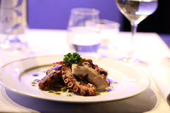 Octopus in a dish Royalty Free Stock Photo