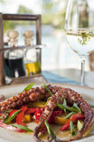 Octopus dish portrait Royalty Free Stock Image