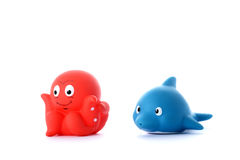 Octopus and dolphin Stock Photo