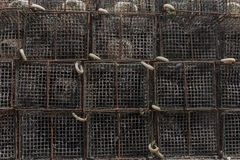 Octopus fishing traps. Close up view of several octopus fishing traps Stock Images