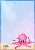 Octopus with frame Stock Photography