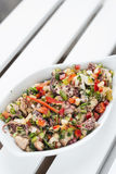 Octopus fresh seafood mixed vegetable salad Royalty Free Stock Photography