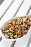 Octopus fresh seafood mixed vegetable salad Royalty Free Stock Image