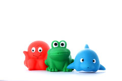 Octopus, frog and dolphin children's toys Royalty Free Stock Photo