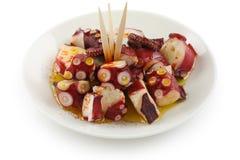 Octopus galician style (pulpo a la gallega) , span Stock Images
