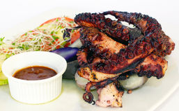 Octopus grilled- Peruvian style dish Stock Photography