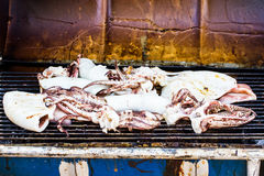 Octopus Grilled seafood Royalty Free Stock Photography