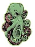 Octopus groen vectorontwerp vector illustratie