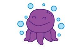 Octopus Happy Stock Photo