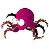 Octopus haracter Stock Images