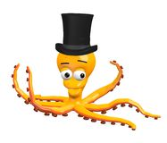 Octopus with hat Stock Photography