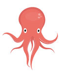 Octopus icon logo element. Flat style, isolated on white background. Vector illustration, clip art. Octopus icon logo element. Flat style, isolated on white Royalty Free Stock Photo