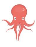 Octopus icon logo element. Flat style, isolated on white background. Vector illustration, clip art. Royalty Free Stock Photo