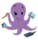 Octopus. Illustration of a cartoon octopus Stock Photography
