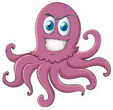 An octopus. Illustration of an octopus on a white background Royalty Free Stock Images