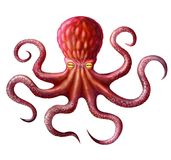 Octopus. An octopus image, a sea monster, an underwater monster stock illustration