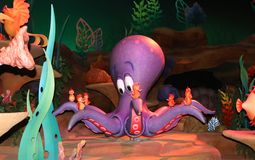 Octopus inside Walt Disney's Magic Kingdom Stock Photo