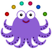 Octopus juggles Royalty Free Stock Image