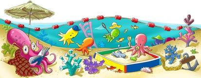 Octopus kindergarten royalty free illustration