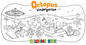 Octopus kindergarten coloring book Stock Images