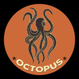 Octopus logo vector Royalty Free Stock Images