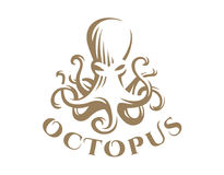 Octopus logo - vector illustration. Emblem design. On white background Royalty Free Stock Image