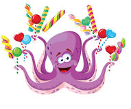 Octopus with lollipops Stock Images