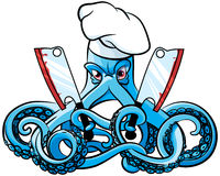 Octopus the Mad Cook Royalty Free Stock Photography