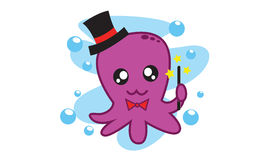 Octopus Magician Stock Photography