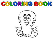 Octopus merry standing for coloring Stock Photos