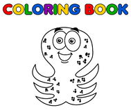 Octopus merry standing for coloring. Illustration Stock Image