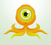 Octopus Monster. Cute Octopus Monster. Cartoon Character Stock Photography