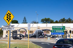 Octopus Mural: Fremantle, Western Australia Stock Image