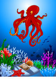 Octopus in the ocean Royalty Free Stock Photos