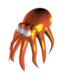 Octopus On A White Background. 3D Image. Stock Photo