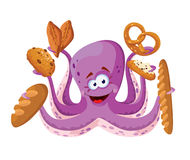 Octopus with pastry Stock Images