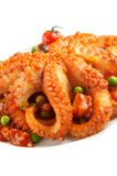 Octopus in plantaardige vulling royalty-vrije stock afbeelding
