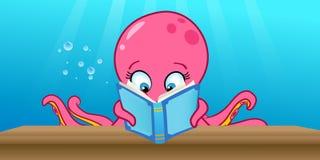 Octopus reading Stock Photos
