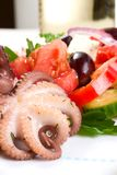 Octopus in red wine Royalty Free Stock Images