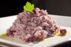 Octopus Risotto Stock Photos