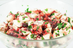 Octopus salad Royalty Free Stock Images