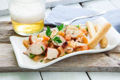 Octopus salad on tray Stock Photography