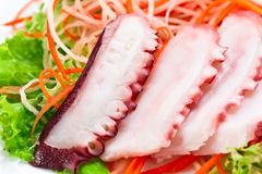 Octopus with salad Stock Images