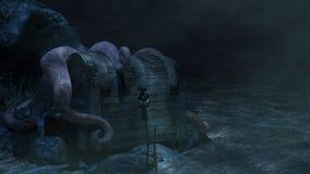 Octopus & Schatborst Stock Afbeeldingen
