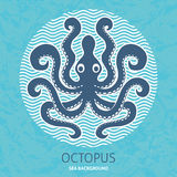 Octopus sea background Stock Photography