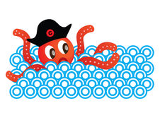 Octopus & Sea Royalty Free Stock Photography