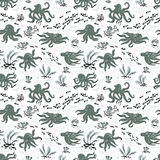 Octopus seamless pattern. Cute Octopus seamless pattern with algae and fishes Royalty Free Stock Photos