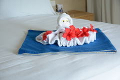 Octopus shape towel Royalty Free Stock Photography