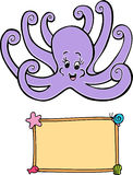 Octopus and Sign Stock Photo